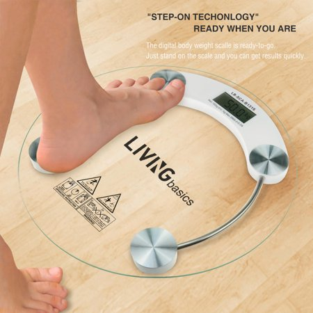 Smart Precision Digital Bathroom Scale with 2 Weight Unit ...