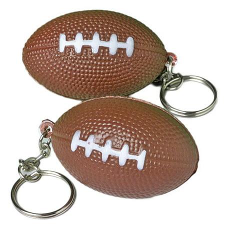 Foam and metal keyring Football 1.5 in Keychain, Brown