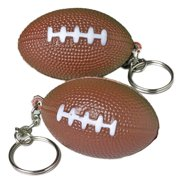 Foam and metal keyring Football 1.5 in Keychain, Brown