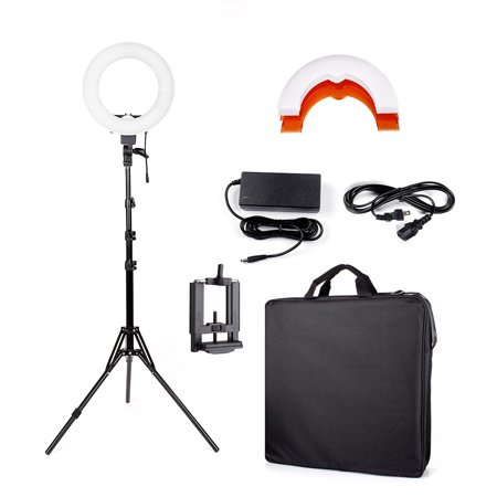 Ktaxon 180pcs LED Ring Light w/ Stand Dimmable 5500K Light Kit for Camera, Smartphone, YouTube, Photography, Video, Portrait Shooting