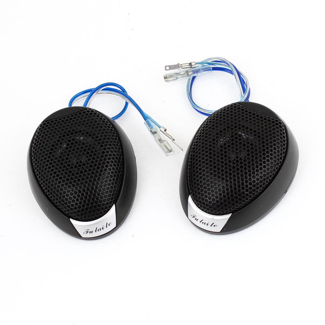 2 Pcs Flush Mount Metal Car Speaker Micro Dome Tweeter Black