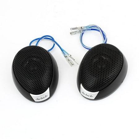 2 Pcs 6.8 x 5.1cm Metal Loud Speaker Dome Tweeter 120 Watt for Car Audio System - image 1 of 1