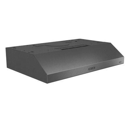 Liner 600 Cfm Stainless Steel - Broan 30 Inch CFM 1.2 Sones Convertible Black Stainless Steel Kitchen Range Hood