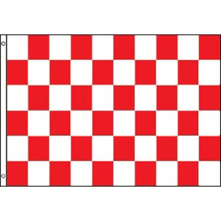 Red and White Checkered Flag Advertising Banner Store Sign Party Pennant 3x5 - Checkered Flag Pennant Banner