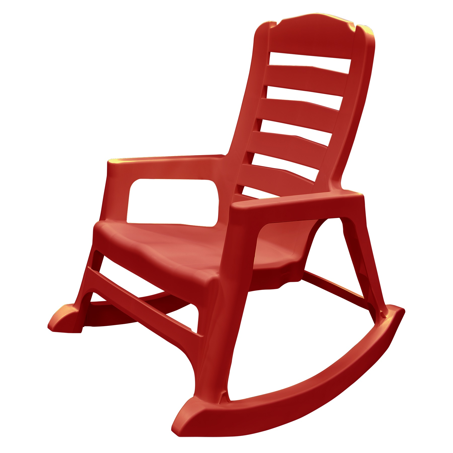 Image of Adams Manufacturing Resin Patio Big Easy Rocking Chair - Cherry Red