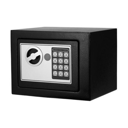 Security Safe Box Digital Safe, Electronic Steel, Fireproof & Waterproof Box with Keypad to Protect Money, Jewelry, Passports for Home, Business or Travel with Keys