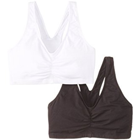 - Womens 2 Pack ComfortFlex Fit Cotton Pullover Bra, Style H570