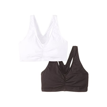 Womens 2 Pack ComfortFlex Fit Cotton Pullover Bra, Style H570 Flex Fit Back Bra