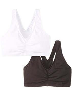 Womens 2 Pack ComfortFlex Fit Cotton Pullover Bra, Style H570