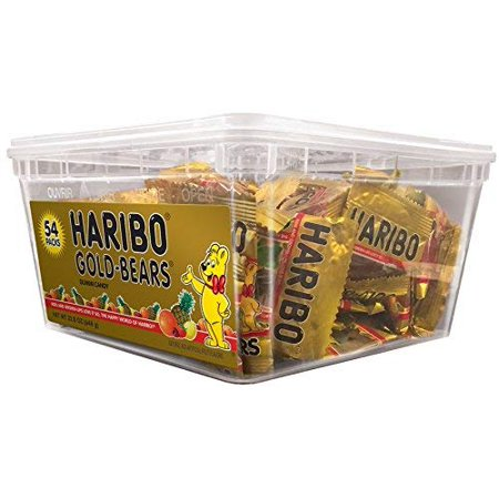 8 PACKS : Haribo of America Gold-Bears Tub, 54 Count - Walmart.com