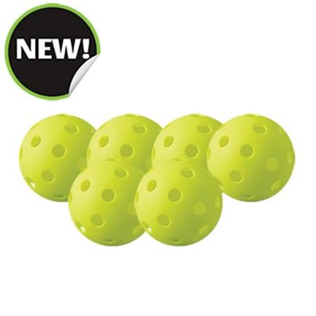 Champion Sports PB6INDSET Indoor Pickleball, Optic Yellow - Set of 6 - image 1 of 1