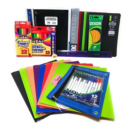 Back to School Supplies Bundles for Elementary or High School Students, School Supplies Set for Boys and Girls, School Essentials for Junior or Senior Year, Office Supply Sets (High School