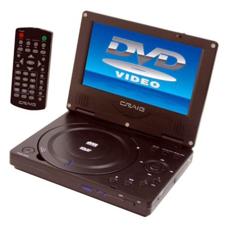 craig ctft716n 7 tft swivel screen portable dvd cd player with remote control. Black Bedroom Furniture Sets. Home Design Ideas