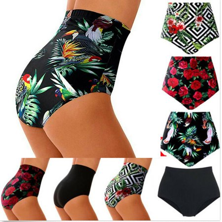 Women High Waisted Bikini Swim Pants Shorts Bottom Swimsuit Swimwear Bathing