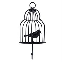 LYUMO Wall Hanger Bird Cage Pattern Bag Key Rack Organizer Home Decor Hook Home Decor