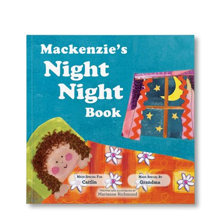 The Night Night Book (For Girls) - Personalized Book - Personalized Boots