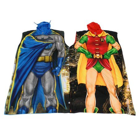 DC Comics Batman & Robin Dynamic Duo Twinsie Poncho Set (Dynamic Duo Halloween)