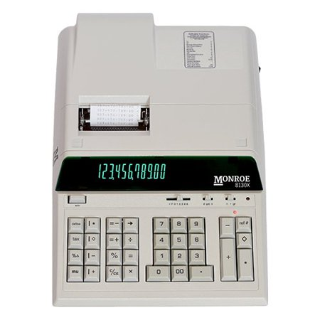 Monroe Systems 8130X Ivory Printing Calculator and Adding Machine for Accounting, Finance and Business / Heavy