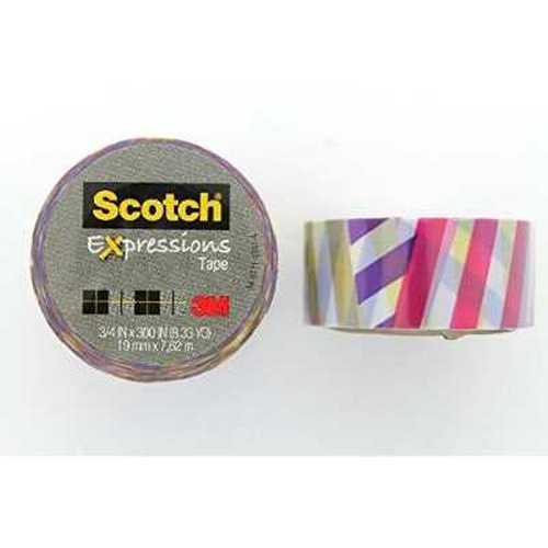 Scotch Expressions Colored Magic Tape; Preppy 2 Pattern, 3/4 x 300