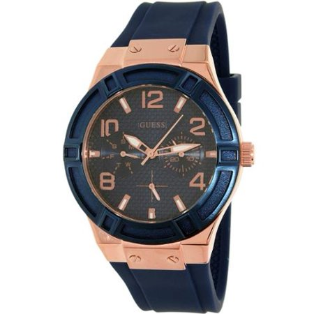 GUESS Women's U0571L1 Sporty Rose Gold-Tone Stainless Steel Watch ()