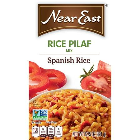 Near East Rice Pilaf Mix, Spanish Rice, 6.75 oz Box