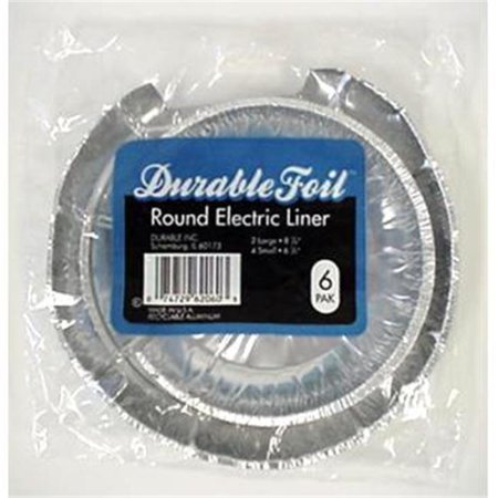 DDI 370722 Round Electric Burner Foil Liners - 6 Pack Case Of 24