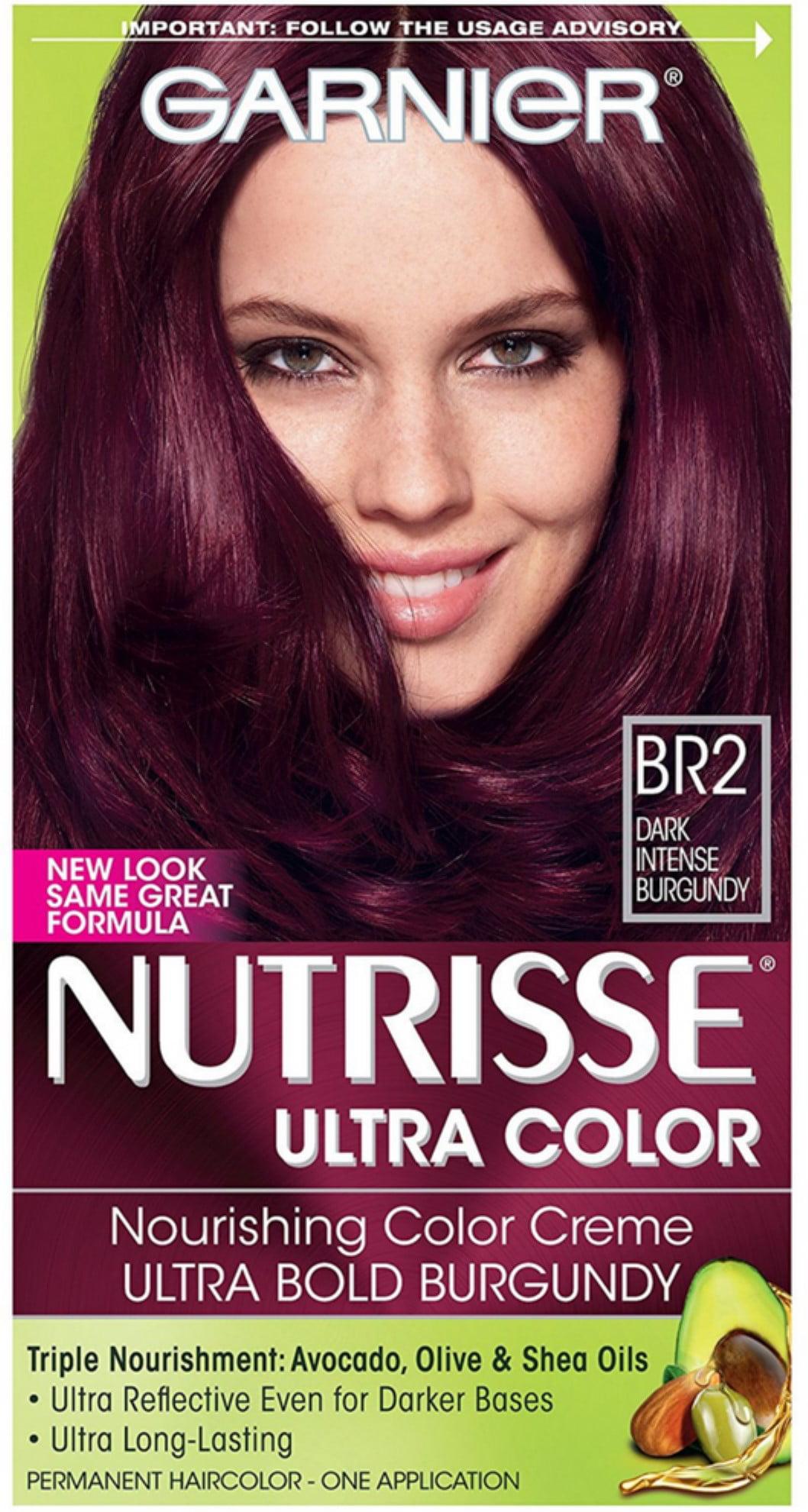 Garnier Nutrisse Ultra Color Nourishing Creme Dark Intense Burgundy Br2 1 Ea Pack Of 6
