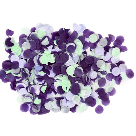 Koyal Wholesale Tissue Paper Confetti 1-Inch Circles, Mint Green, Lavender, Purple In Bulk 5.3oz Pack, Unicorn, Mermaid](Bulk Confetti)