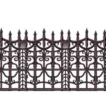 Creepy Fence Border Halloween Decoration](Graveyard Fence Halloween Decorations)