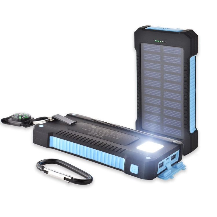 Click here to buy 300000mAh Dual USB Portable Solar Battery Charger Solar Power Bank.