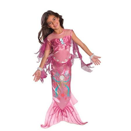 Girls Pink Mermaid Costume (Girls Pink Mermaid Costume)