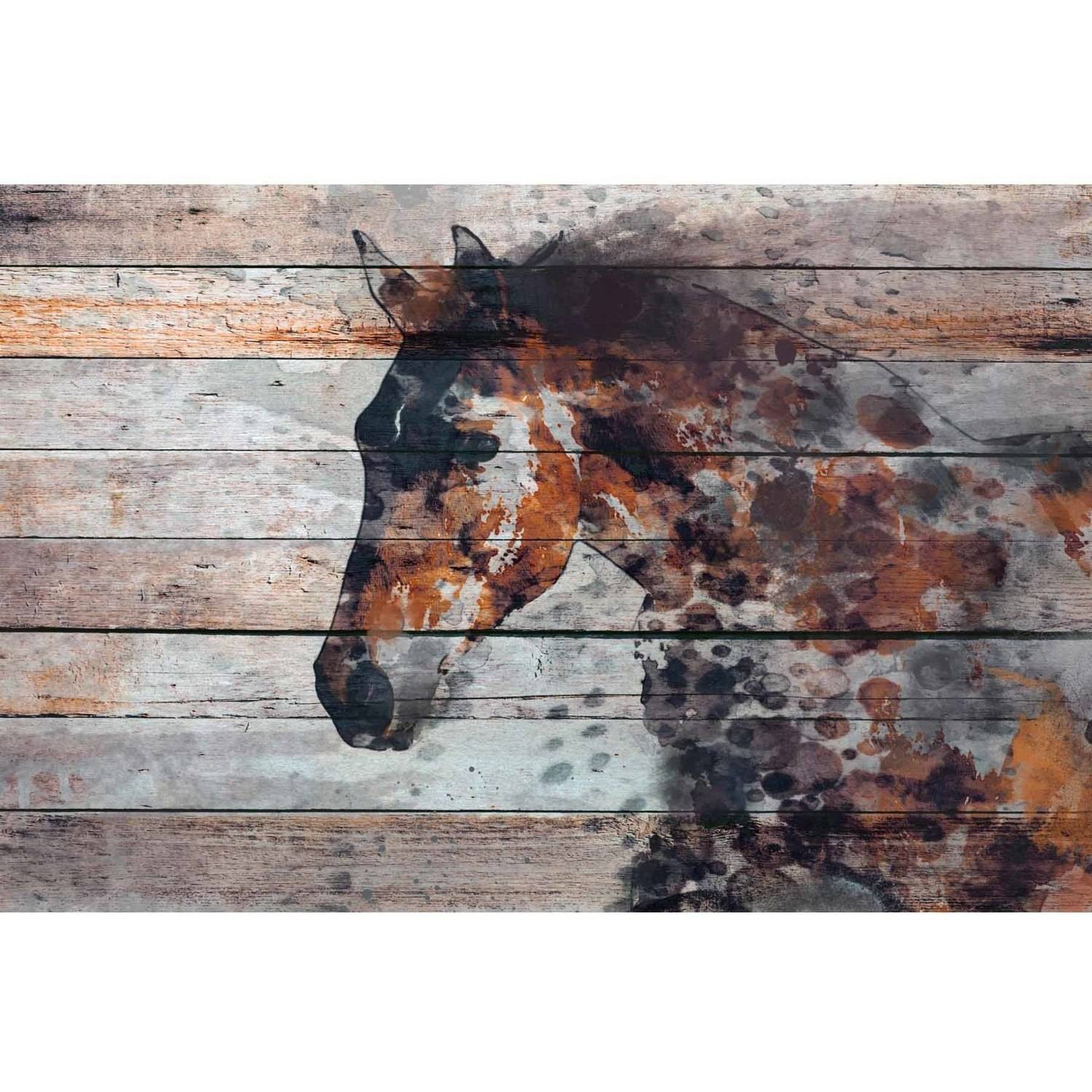 "Marmont Hill ""Fire Horse"" by Irena Orlov Painting Print on Wrapped Canvas"