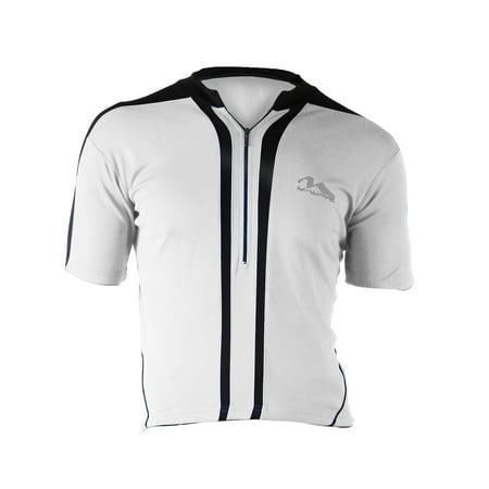 Bike Jersey (M-Wave Men's Bicycle Jersey, White/Black,)