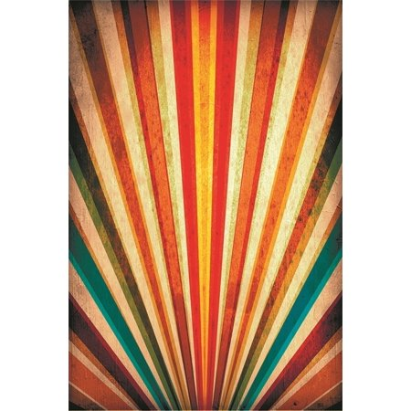 XDDJA Polyester Fabric 5x7ft Photography Studio Backdrops Girl Toddler Photo Shoot Background Old Multicolor Stripe Wall Floors Adult Kid Artistic Portrait Digital Video Props Scene - image 1 de 1