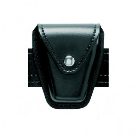Safariland Duty Gear Hidden Snap Flap Top Handcuff Pouch (Basketweave Black) - 190-4HS - Safariland