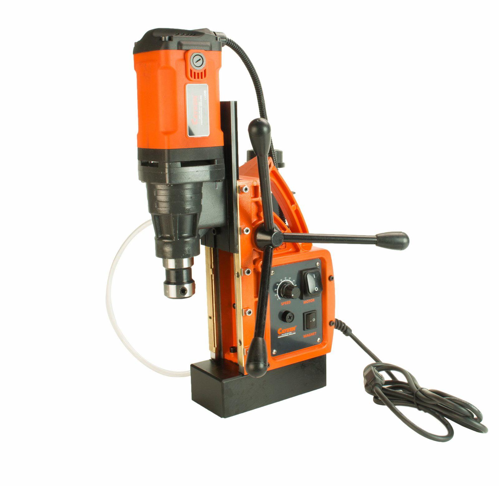 "Cayken SCY-42HD 1.65"" Magnetic Drill Press with Weldon Shank and 7 Piece Small Diameter 2"" Cut Depth... by Cayken"