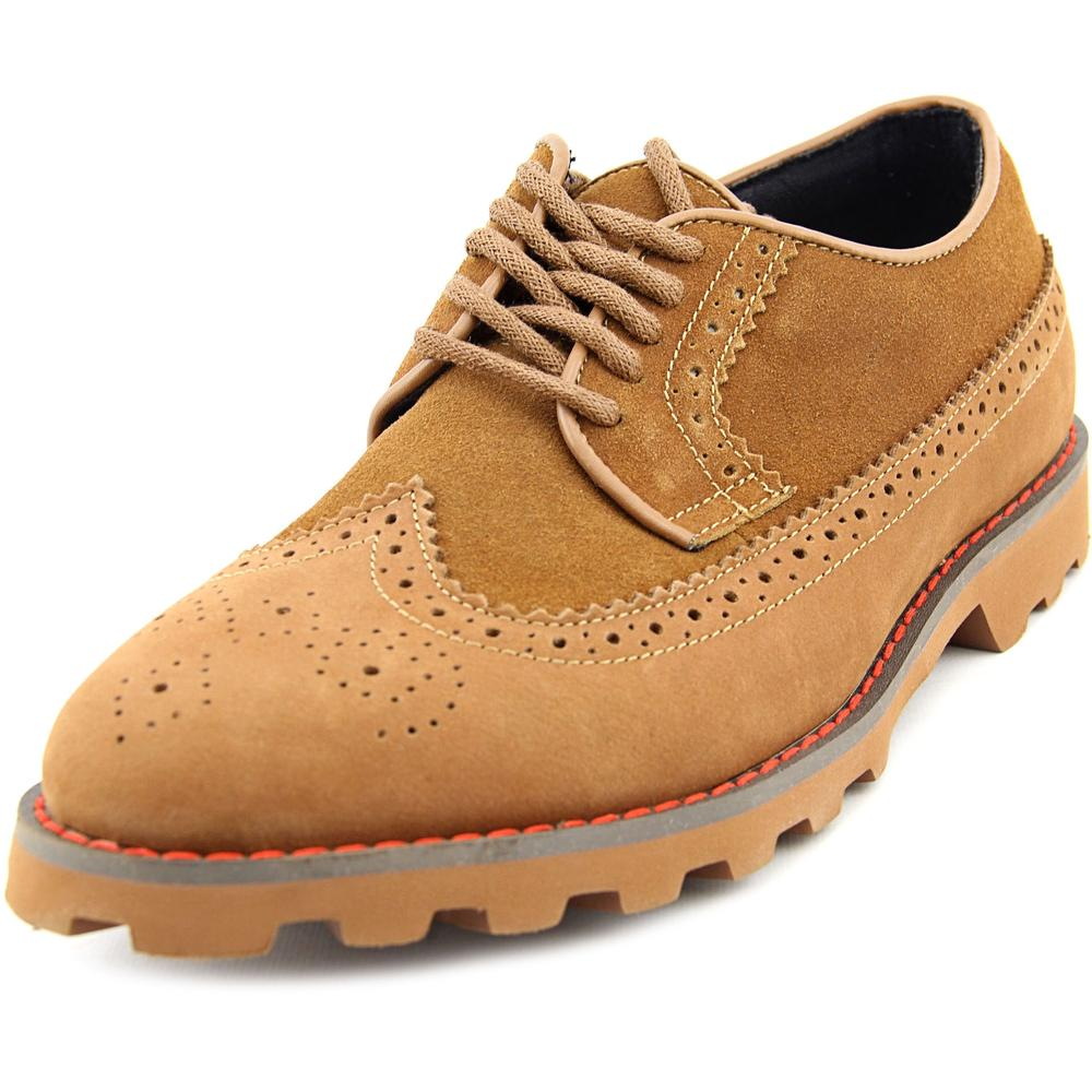 Generic Surplus Long Wing   Round Toe Suede  Oxford