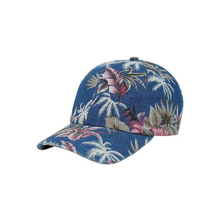 Top Headwear Denim Floral Print Cap - Light Blue - image 2 of 2
