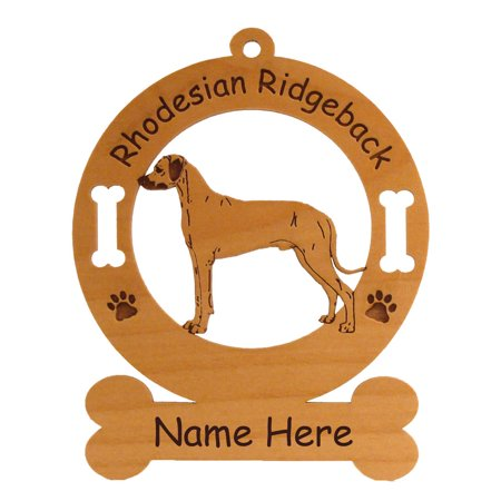 Rhodesian Ridgeback Standing #2 Dog Ornament Personalized with Your Dog's Name
