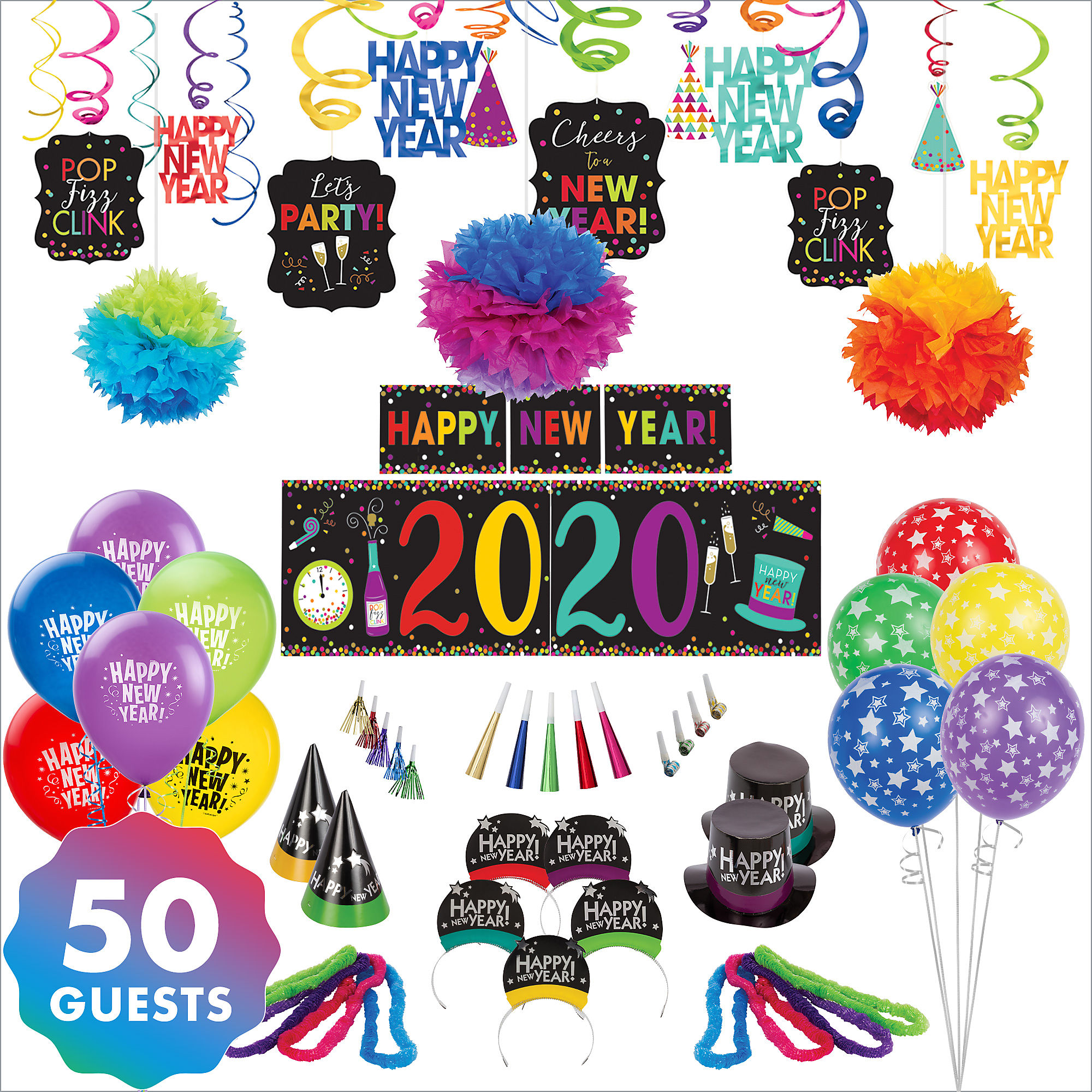 Party City Colorful New Year's Eve Accessory & Decor Kit ...