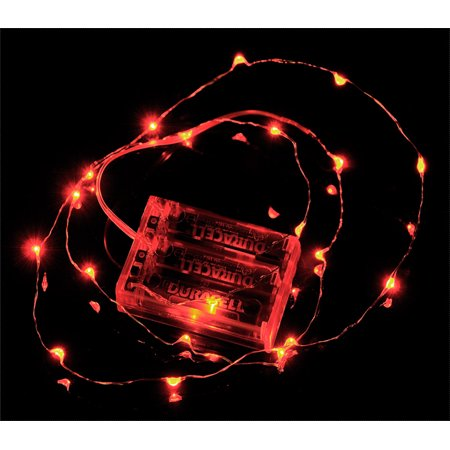 Fantado 20 Red Led Micro Fairy String Lights Wire 6ft
