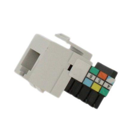 leviton white quickport 6 wire phone jack rj11 telephone 6. Black Bedroom Furniture Sets. Home Design Ideas
