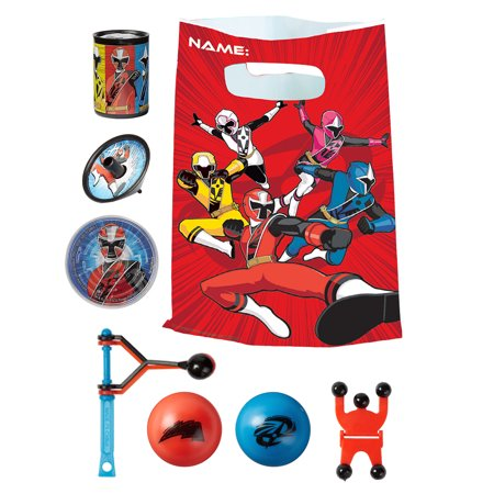 Power Rangers Birthday Party Ideas (Party City Power Rangers Ninja Steel Basic Favor Supplies for 8 Guests, Include Plastic Party Favor Bags and)