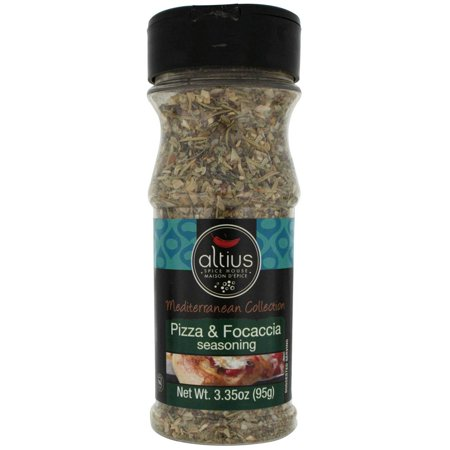Altius  Pizza and Focaccia Mediterranean Collection Seasoning With Herbs and Spices, Sprinkle on Italian Dishes 3.35 oz x 4