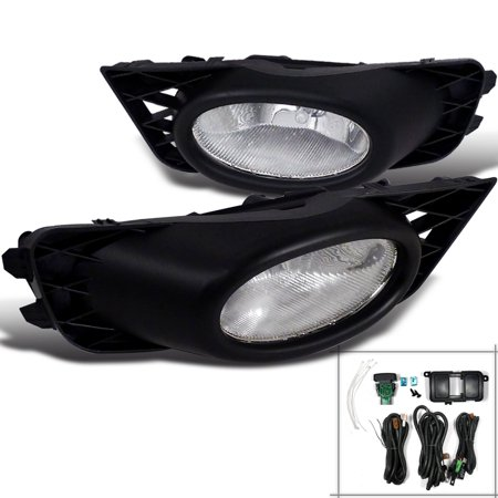 Spec-D Tuning Honda 2009-2011 Civic 4Dr Driving Fog Lights + Switch 2009 2010 2011 (Left + Right)