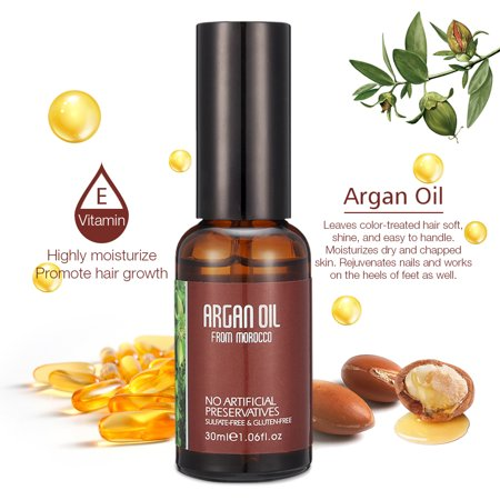 Natural Moroccan Argan Oil for Damaged Hair, Dry Skin, & Nail Care, Cold Pressed Glycerine Oil, Stimulate Hair Growth, Skin moisturizer, Nail Protector, (Best Moisturizer For Dry Natural Hair)