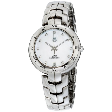 Tag Heuer Link Mother of Pearl Dial Stainless Steel Ladies Watch (Sport Mother Of Pearl Dial)