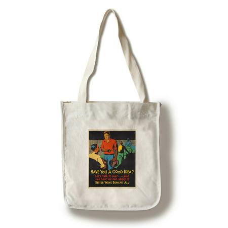Mather - Have You a Good Idea? Vintage Poster (artist: Beatty) USA c. 1929 (100% Cotton Tote Bag - Reusable)