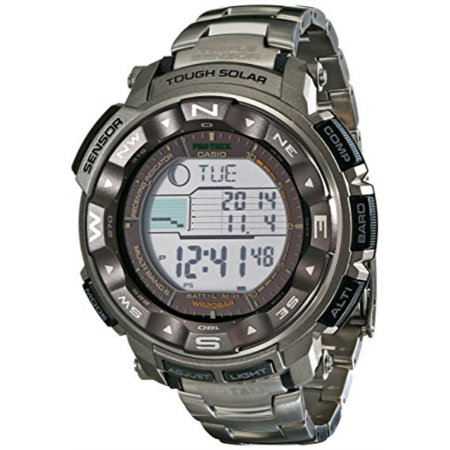 Men's PRW-2500T-7CR Pro Trek Tough Solar Digital Sport Watch Casio Titanium Watch