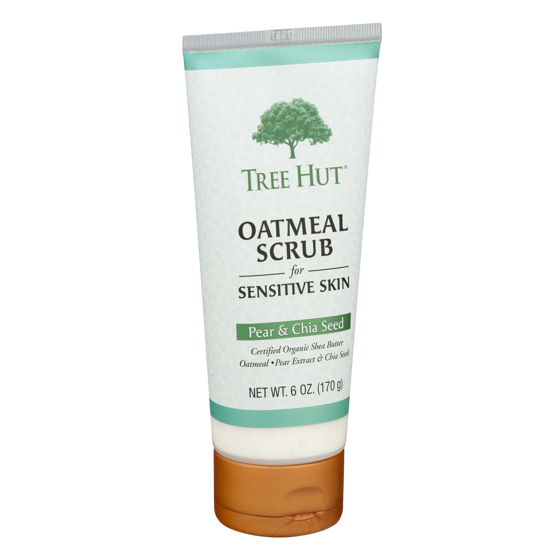 Tree Hut Oatmeal Scrub for Sensitive Skin, Pear & Chia Seed 6 oz (Pack of 6) Lancome - Absolue Precious Cells Nourishing Lip Balm - Honey-In-Rose - 15ml/0.5oz